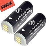 BM Premium 2-Pack NB-9L Battery For Canon PowerShot N, N2, Elph 510, Elph 520, Elph 530 HS, SD4500 IS Digital Camera