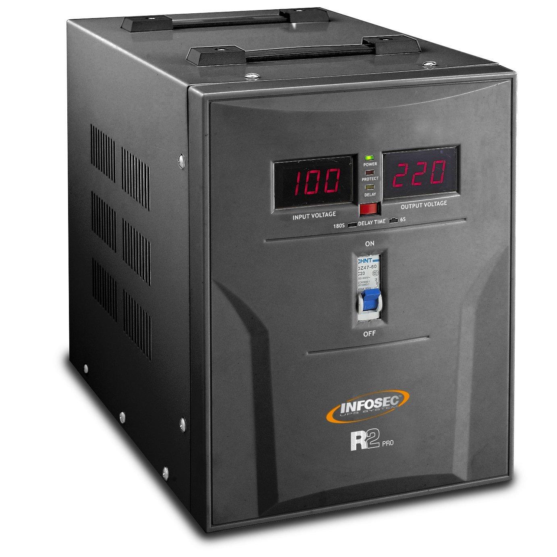 Infosec 63153 R/égulateur de Tension 10000 VA
