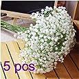 Zhoke 5pezzi all' ingrosso finto fiore simulazione naturale reale Babysbreath gypsophila Paniculata fiori artificiali per decorazione tavolo
