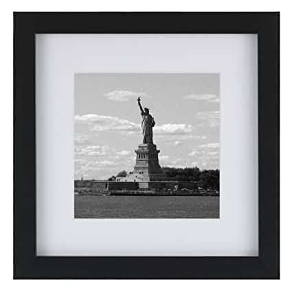 Amazon.com - ONE WALL Tempered Glass 8x8 Picture Frame with 1 Mat ...