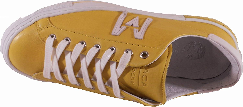 2635 Schnürschuh Maca Kitzbühel Sneaker Antikleder orange