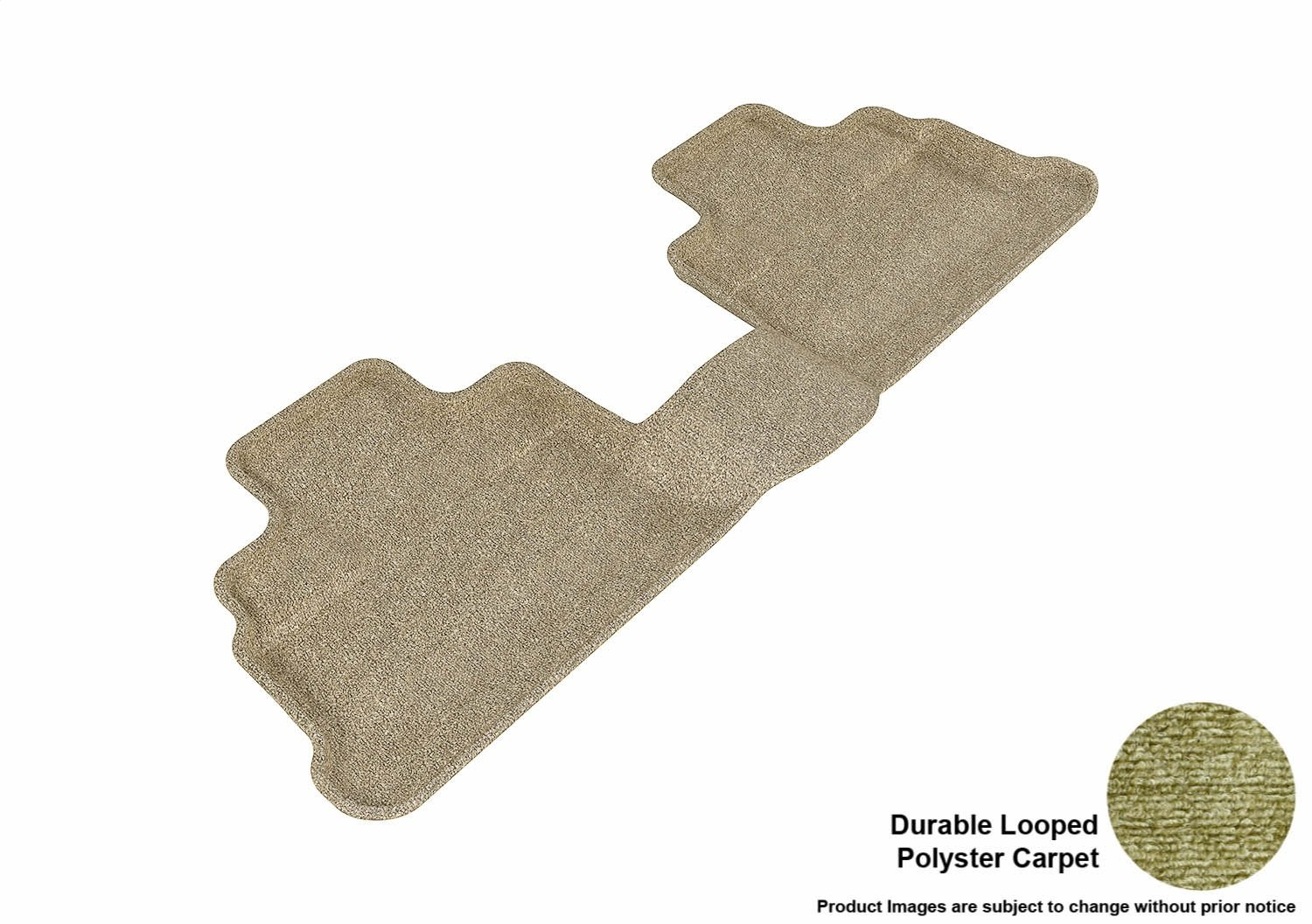 L1JP00312202 Tan 3D MAXpider Front Row Custom Fit Floor Mat for Select Jeep Wrangler Models Classic Carpet