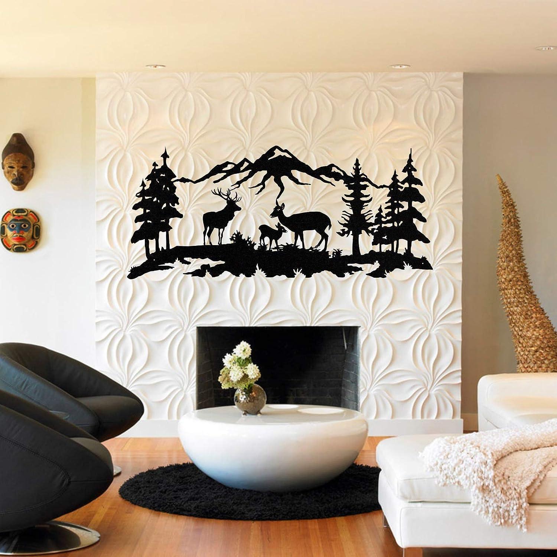 Metal Wall Art, Deer Family Wall Art, Metal Tree Decor, Metal Wall Decor, Interior Decoration, Wall Hangings (30