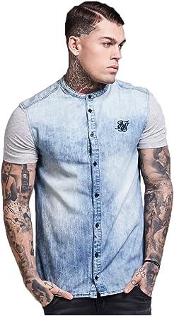 SikSilk - Camisa casual - para hombre azul azul: Amazon.es: Ropa y accesorios