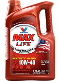 Valvoline High Mileage with MaxLife Technology 10W-40 Synthetic Blend Motor Oil - 5qt (
