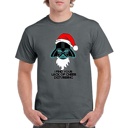 3e3bfe821e2 ZX Adult Printed T Shirts-Darth Vader Star Wars Christmas Top Funny Gift Tee