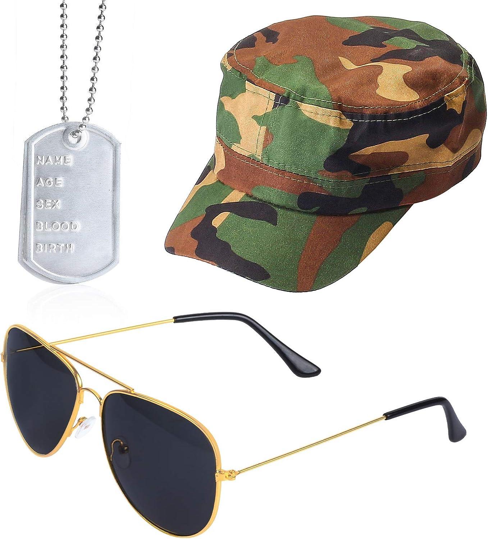 Beefunny Instant Army Fancy Dress Set - Sombrero de Camuflaje ...