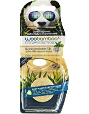 Woobamboo Biodegradable Silk Dental Floss with Natural Beeswax and Organic Mint 37.5 m