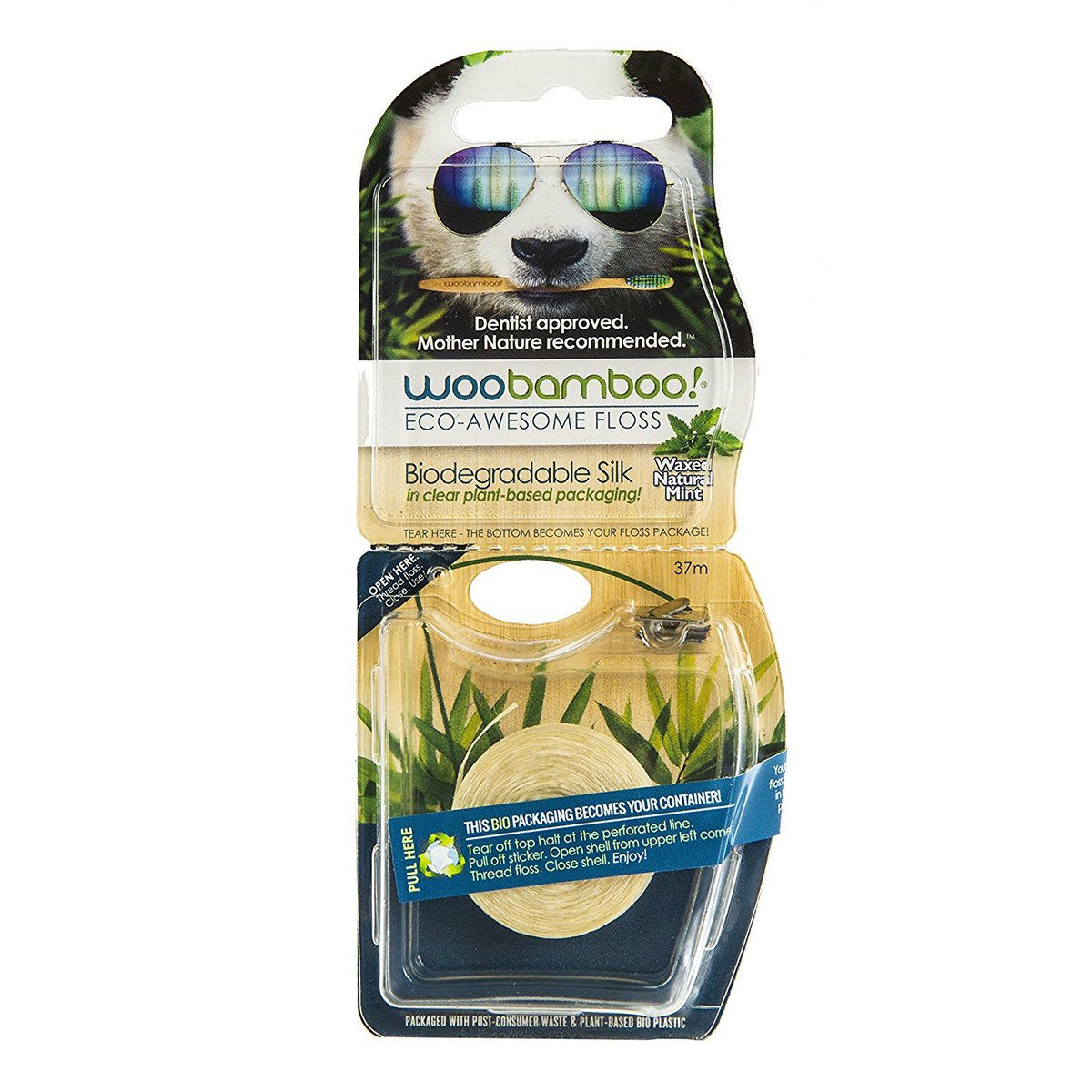 WooBamboo - Eco-Awesome Floss Natural Mint 200 Floss M