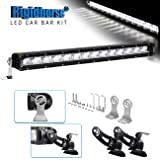 "LED Light Bar Kit Rigidhorse 22"" 139W Dual-Mode Light Bar LED Work Light Driving Light with Non-destructive Mounting Bracket for Sports Car SUV Jeep Pickup"