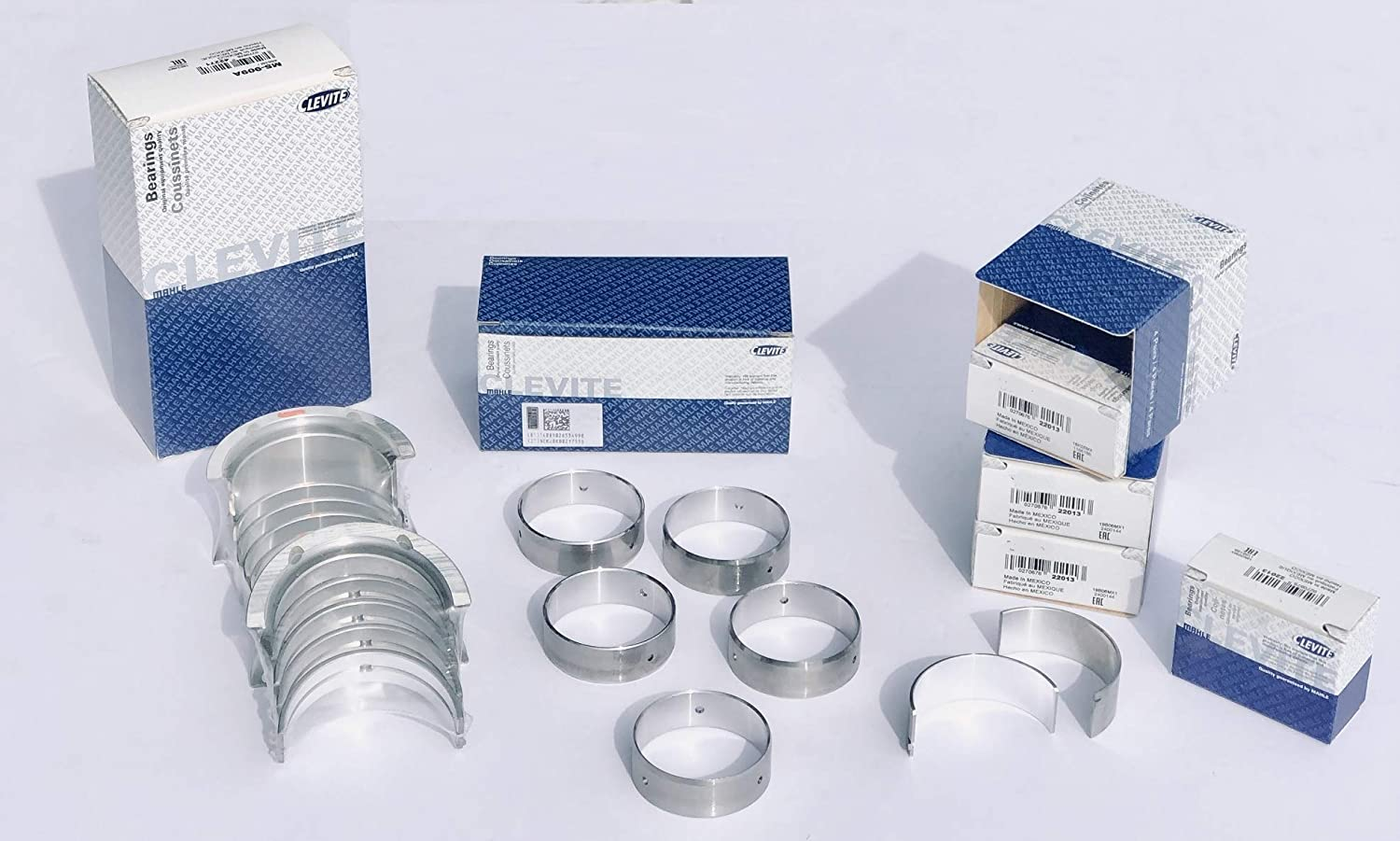 CLEVITE A Rod+Main+Cam Bearing Kit compatible with Chevy SB 305 307 327 350 383 1967-02 LT1+LT4 .020 rods//.20 main