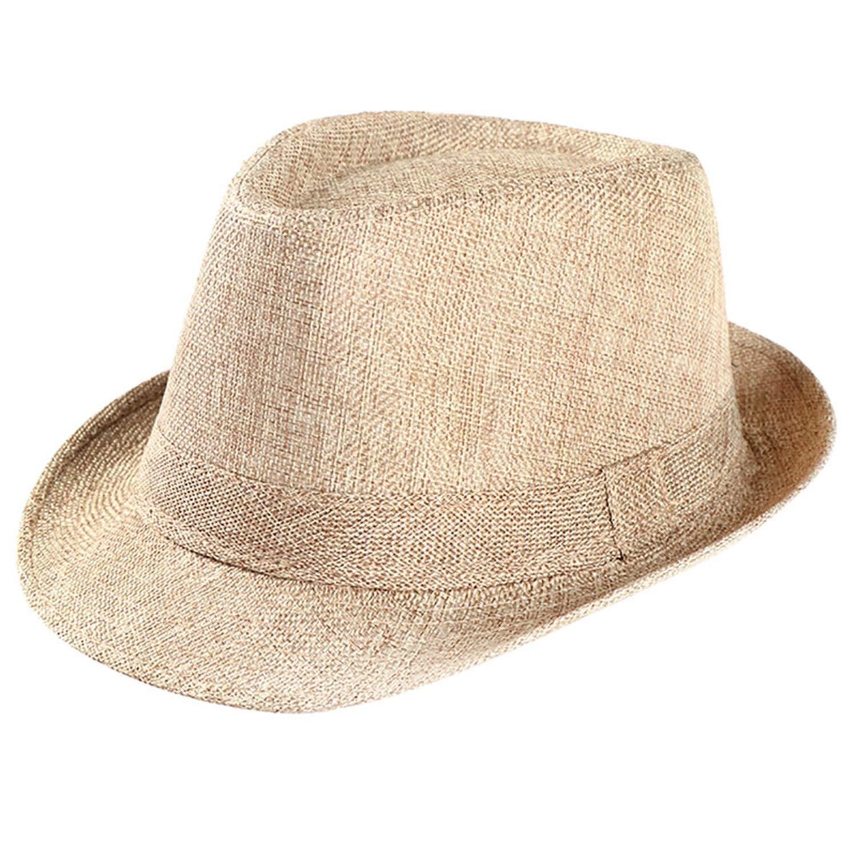 DOSOMI Women Men Fedora Hat Bowler Winter Autumn Wide Brim Jazz Church Panama Cap