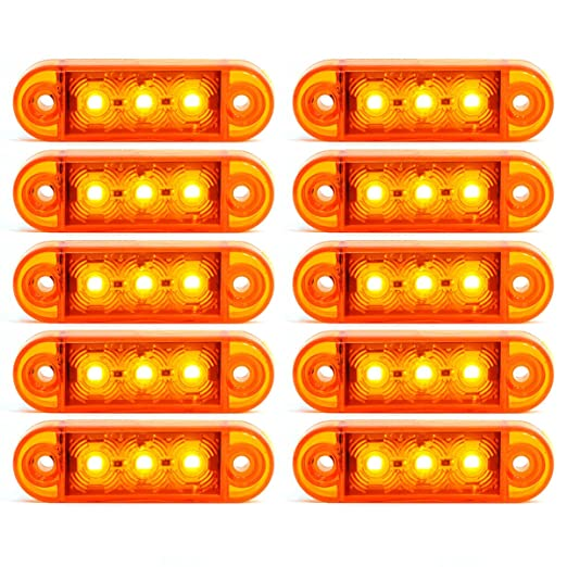 5 5x Rot 15 LED 24V Volt Seitenmarkierung Begrenzungsleuchten Positionsleuchte Markierung LKW PKW Anh/änger