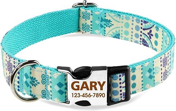 TagME Collar Perro Personalizado, Collar de Perro para Perros ...