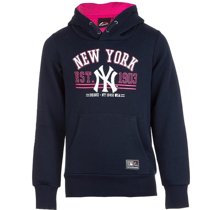 Majestic: Sudadera con Capucha de los New York Yankees para Chica (Azul)