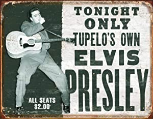 Desperate Enterprises Elvis Presley - Tupelo's Own Tin Sign, 16