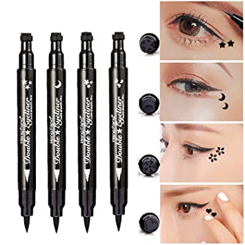 Amazon Pinkiou Eyeliner Pencil Pen With Eye Makeup Stamp Waterproof Double Sided Long Lasting Seal 4in1 Beauty
