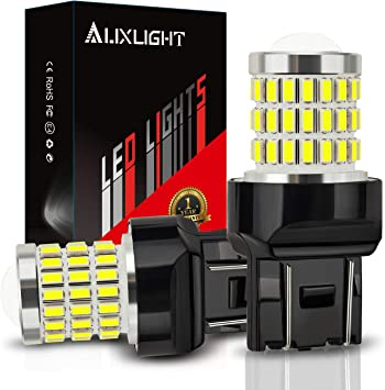 AUXLIGHT 7440 7441 7443 7444 T20 992 W21W LED Bulbs Xenon White, Ultra Bright 57-SMD LED Replacement for Back Up/Reverse Lights, Brake/Tail Lights, Turn Signal/Parking or Running Lights (Pack of 2)