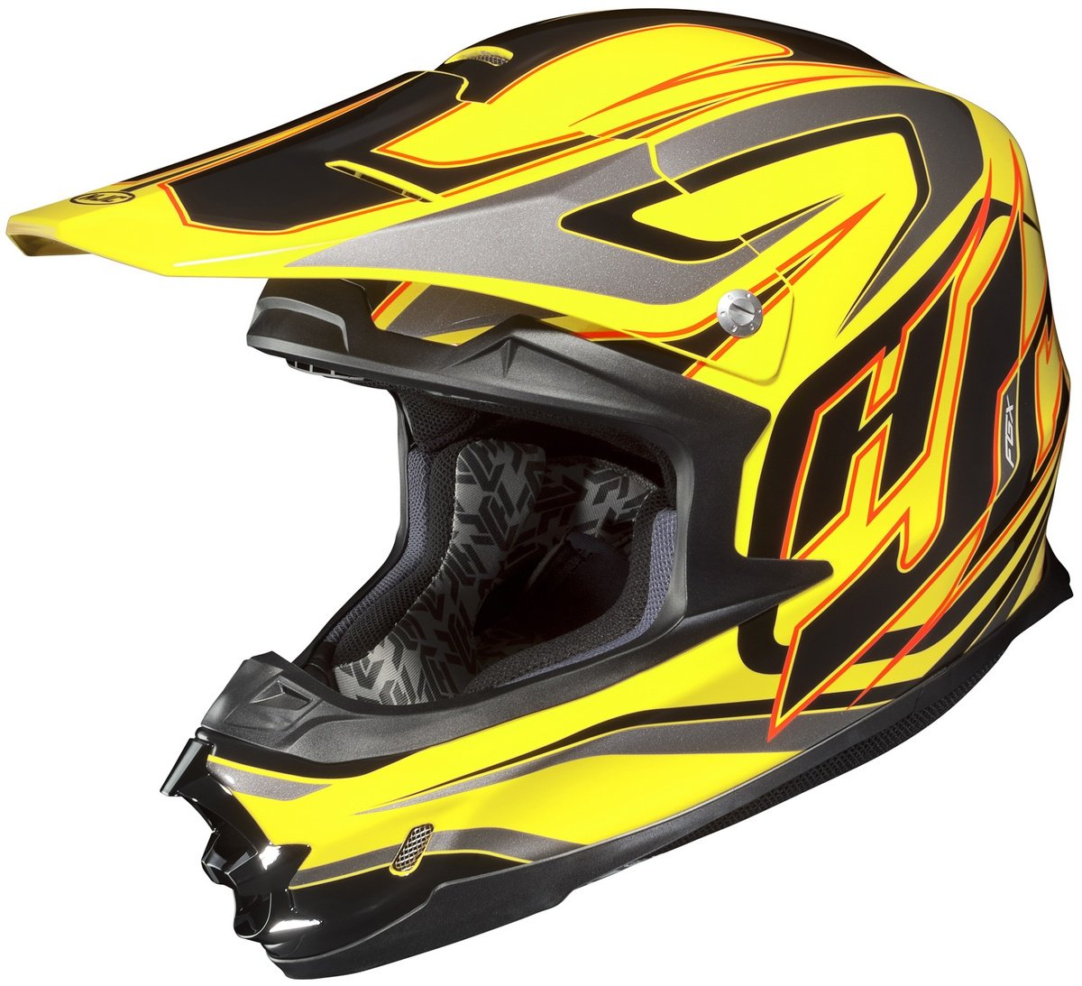 Amazon.com: HJC Hammer Mens FG-X MX/Off-Road/Dirt Bike Motorcycle Helmet - MC-3 / Large: Automotive