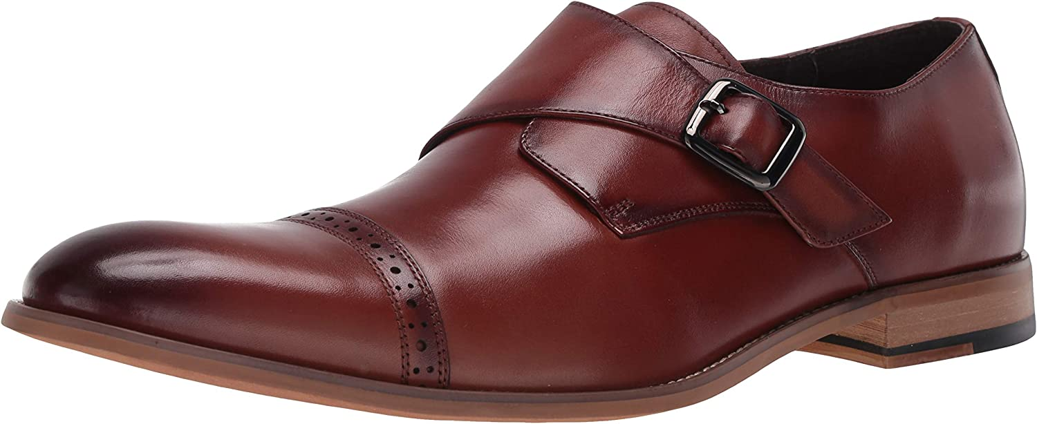 STACY ADAMS Men's Desmond Cap New York Mall At the price Monk Loafer Toe Strap