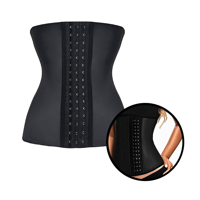 ec96084f811 Amazon.com  ZSZBACE Women s Bodyformers Corset- Waist Training Cincher-  Waist Trainer for Weight Loss- Shaper Slimmer (Black