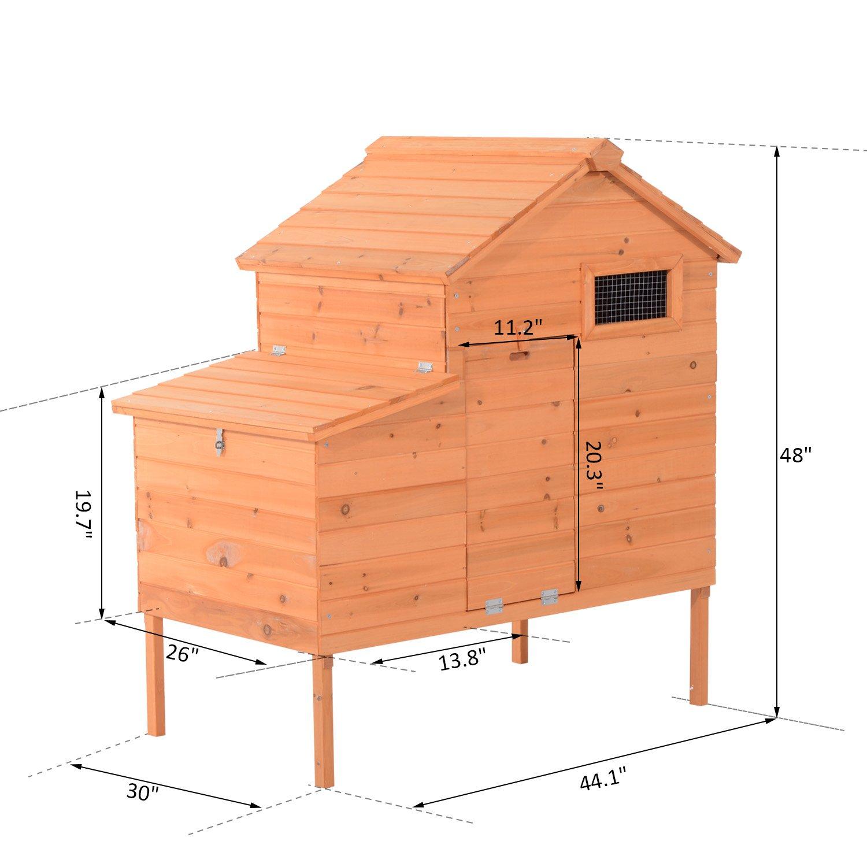Pawhut Outdoor Raised Leg Hen House Chicken Coop by PawHut (Image #2)