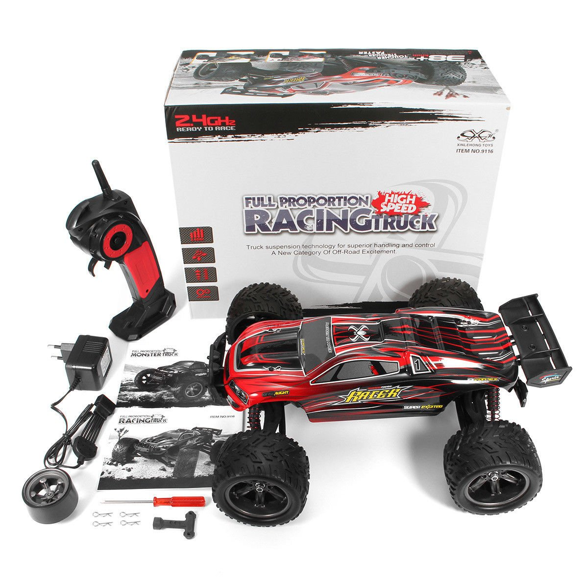 24g 4ch Rc Car Hobby Truck 38 Kph 1 12 Scale Electric Remote Brand Name Waterproof Gptoys Item Circuit Board Control Toy Vechicles Brushed 2wd Anti Shock Read To Run Rtr Racing Truggy Drifting