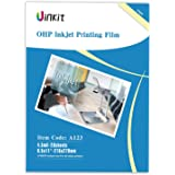 """OHP Film Overhead Projector Film - 8.5x11"""" for Inkjet Printer only Single Side Coated Film 20 Sheets Uinkit"""