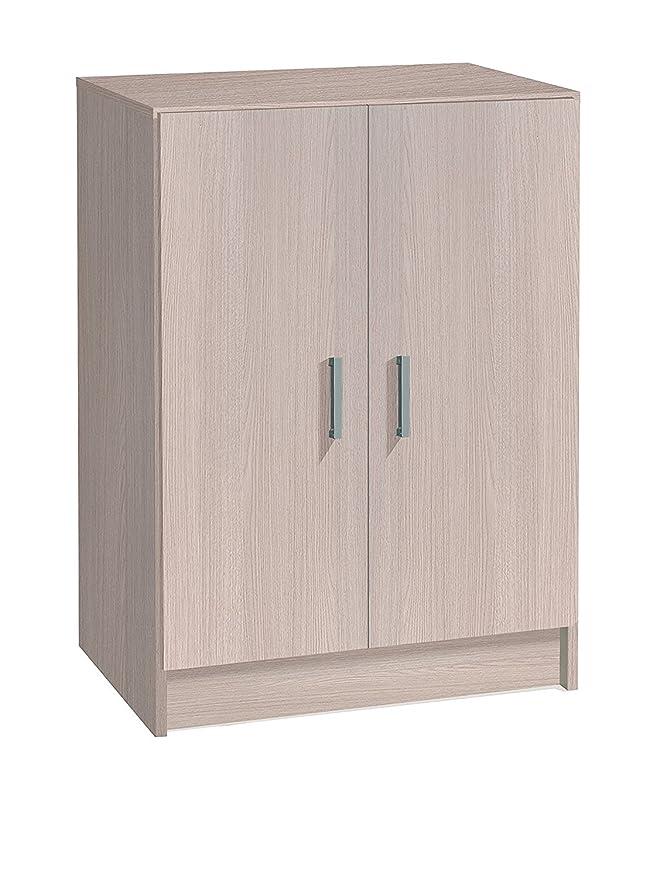 13 Casa Kawai A11, Mueble armario multiusos bajo 2 puertas, 59 x 37 x 80 cm, Marrón Claro (Roble): Amazon.es: Hogar