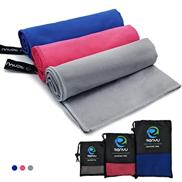 Toalla de microfibra de HDQ, secado rápido, ligera, suave, muy absorbente, ideal para viajes, gimnasio, playa, ...