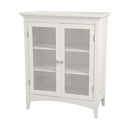 Good Elegant Home Fashions Madison Collection Shelved Double Door Floor Cabinet,  White