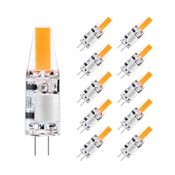 Creyer 10er Pack G4 LED Lampen, Kein Flackern, 200lm, 2W ersetzt 20W ...