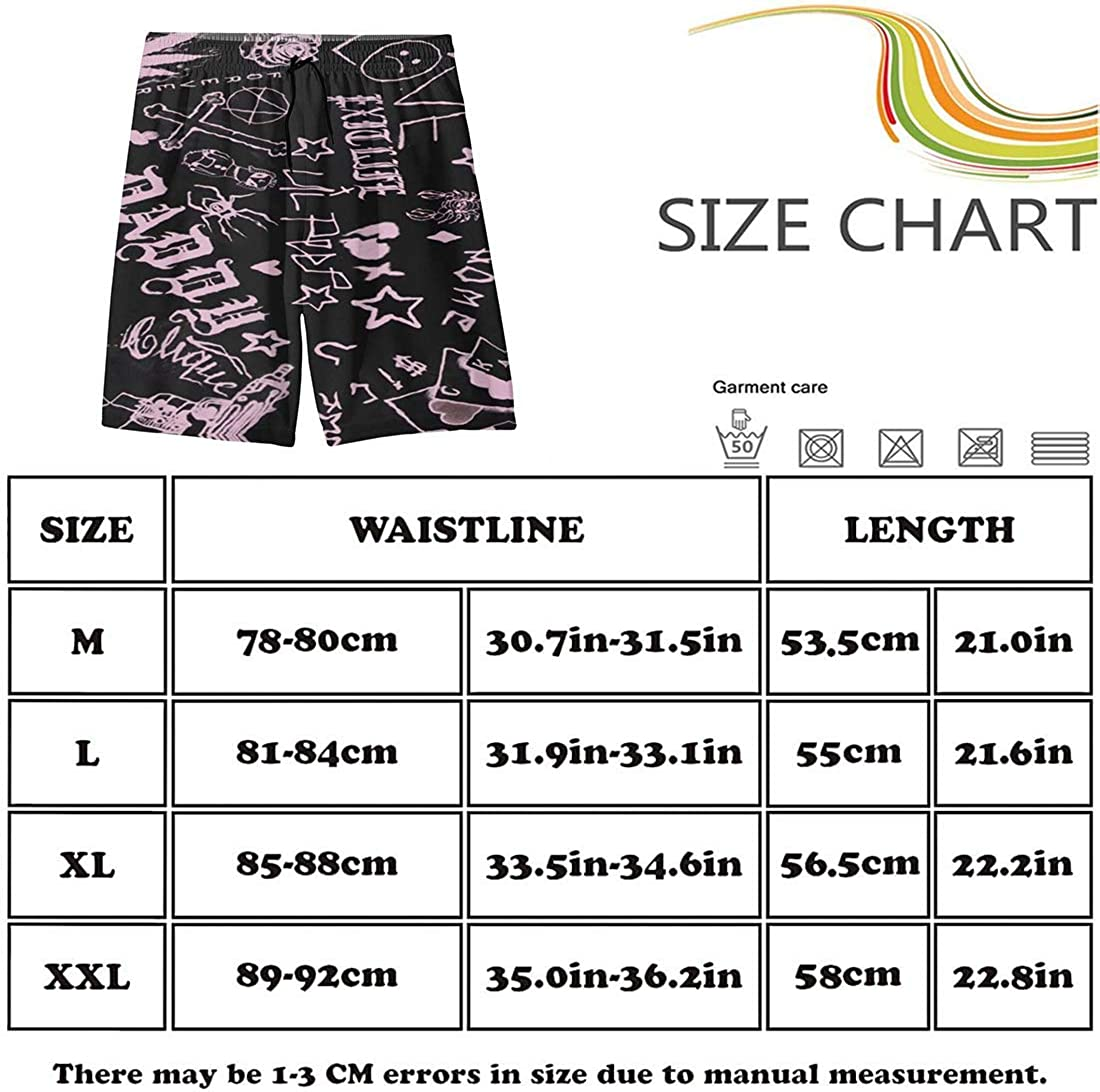 Lil Hip Hop Rap Peep Mens Summer Swim Trunks Quick Dry Funny Beach Board Shorts Casual Pants