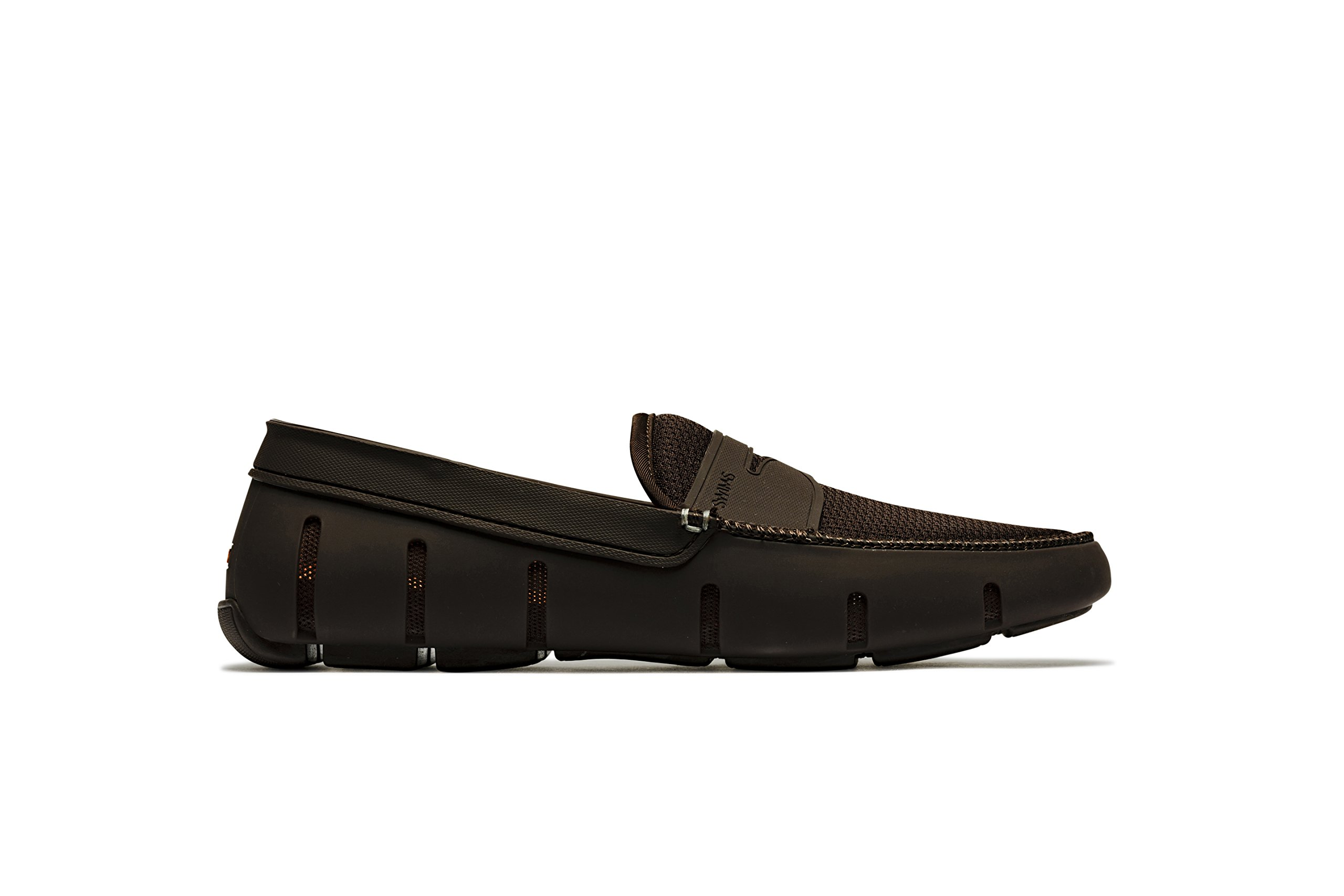 SWIMS Men's Penny Loafer for Pool and Summer - Brown, 8