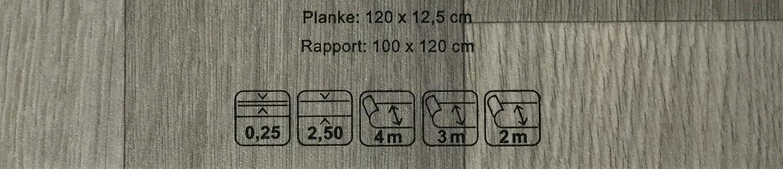 PVC-Belag verf/ügbar in der Breite 400 cm /& in der L/änge 600 cm CV-Belag in Eiche-Optik PVC Vinyl-Bodenbelag in Dielen Optik XL Oak CV-Boden wird in ben/ötigter Gr/ö/ße als Meterware geliefert