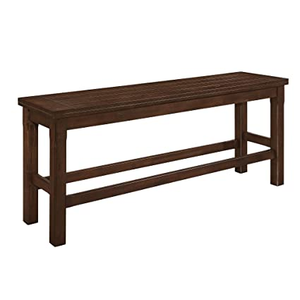 Homelegance 5400 Counter Height Dining Bench Brown