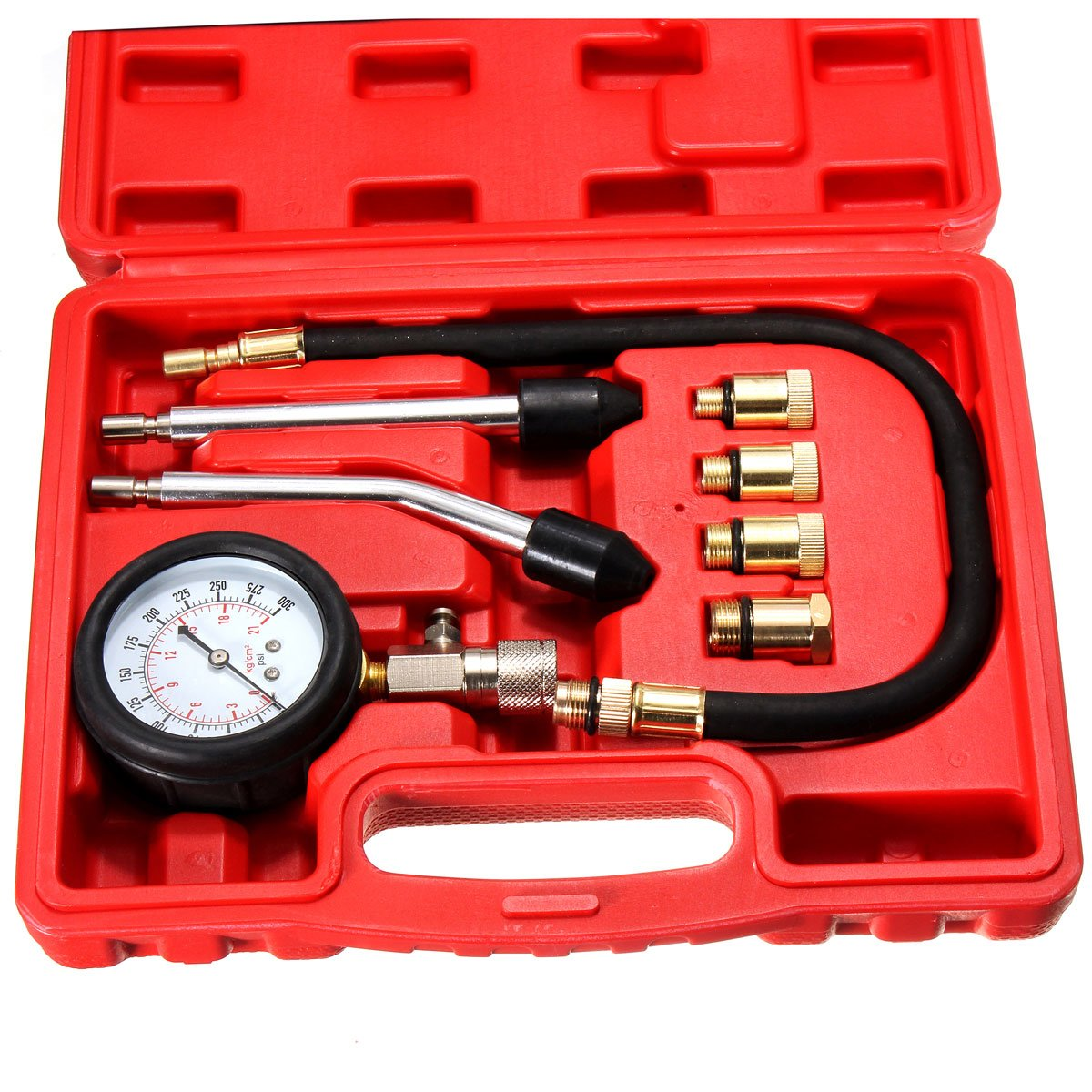 Winnerbe Automotive Petrol Engine Compression Tester Test Kit Gauge Car Motorcycle Tool by Winnerbe (Image #2)