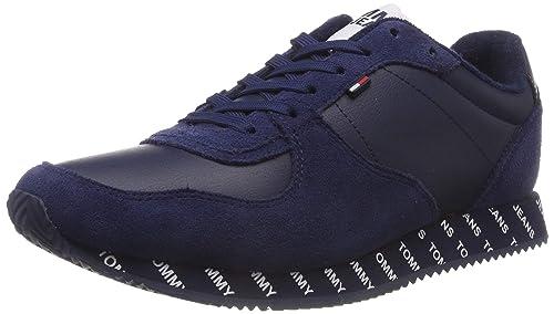 79bcda694 Tommy Jeans Hilfiger Denim Men's City Sneaker Low-Top, Blue (Black Iris 431