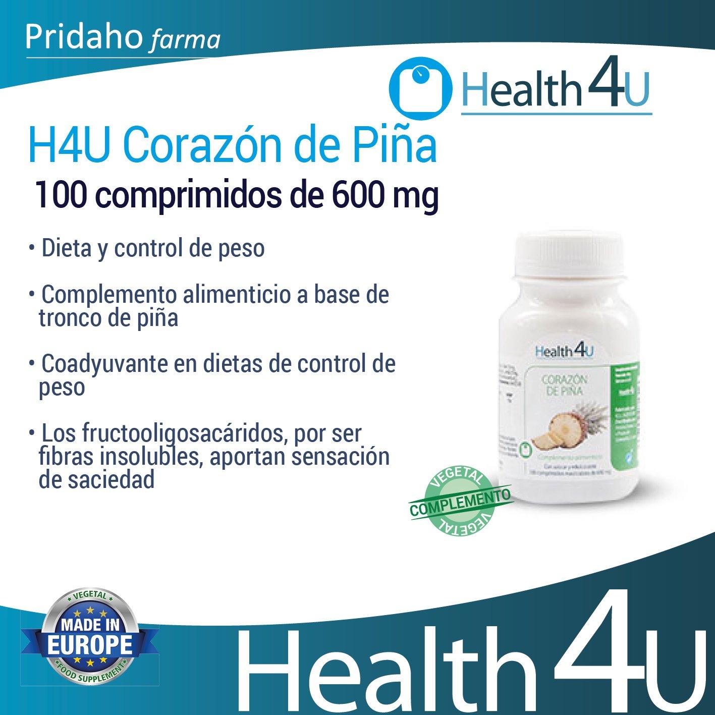 H4U - H4U Corazón de Piña 100 comprimidos de 600 mg: Amazon ...