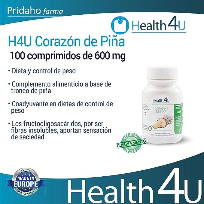 H4U - H4U Corazón de Piña 100 comprimidos de 600 mg: Amazon.es: Salud y cuidado personal
