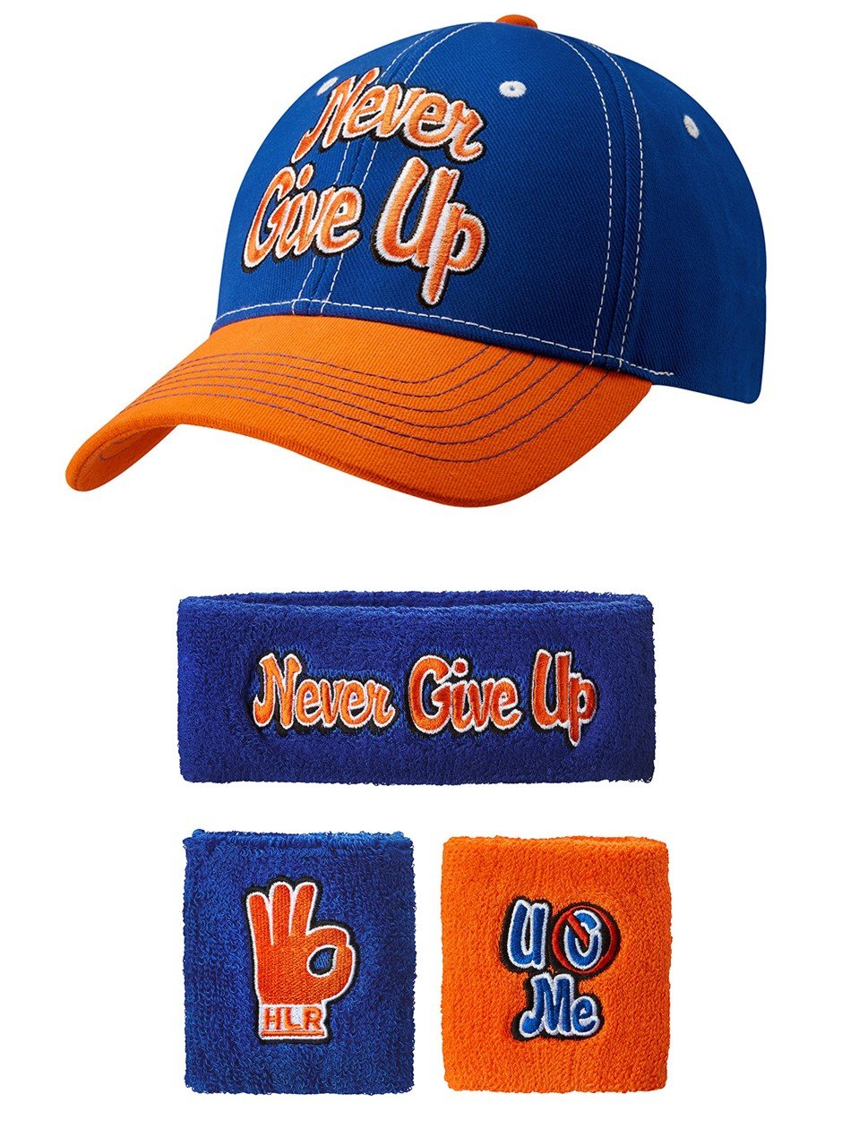 John Cena Respect Earn It Baseball Hat Headband Wristband Set by Freeze