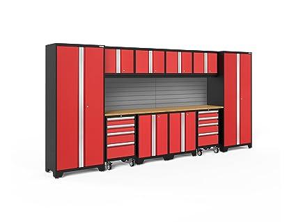 NewAge Products 50610 Bold 3.0 Garage Storage Cabinet Set With Worktop  (12 Piece)
