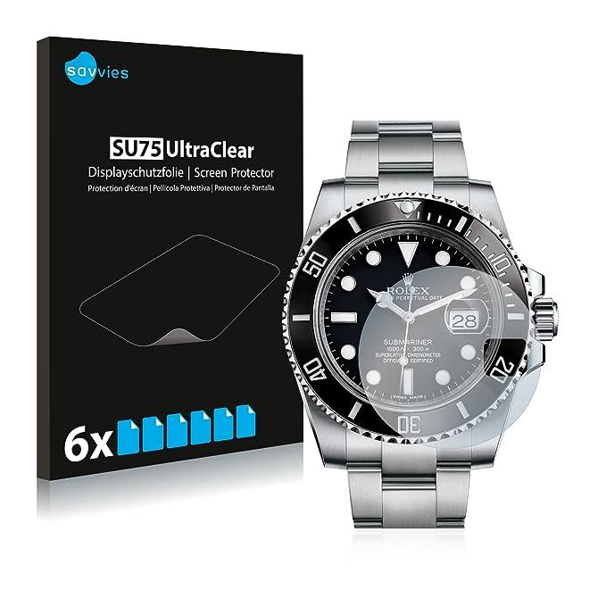 Savvies Film Protection décran Compatible avec Rolex Submariner (Date) [6 Pièces] - Ultra Clair