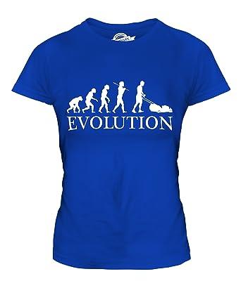 CandyMix Rasenmäher Evolution Des Menschen Damen T Shirt, Größe X-Small,  Farbe Königsblau