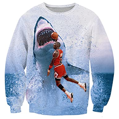 Unisex Sweaters 3D Print Jordan Sharks Hip Hop Hoodies Sweatshirts ... 8850b7f28b