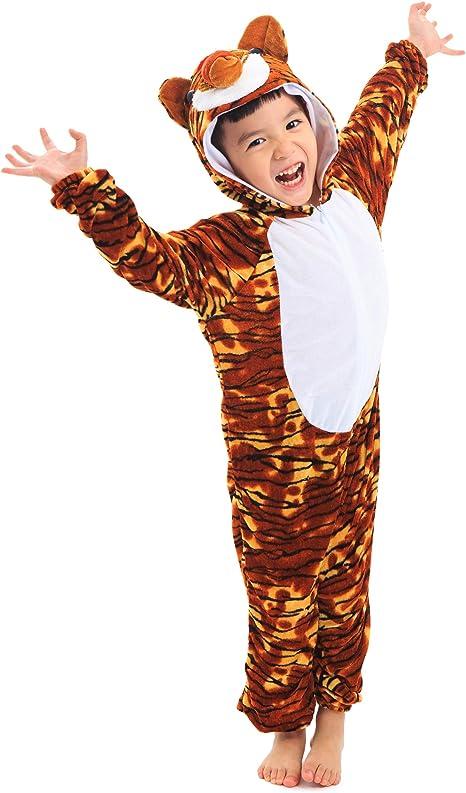 LOLANTA Disfraz de Tigre para niños Disfraz de Cosplay de ...