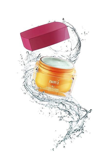 NAVI Crema Hidratante Noche / Mascarilla facial Antiarrugas Vitamina E & Ácido Hialurónico, 50 ml