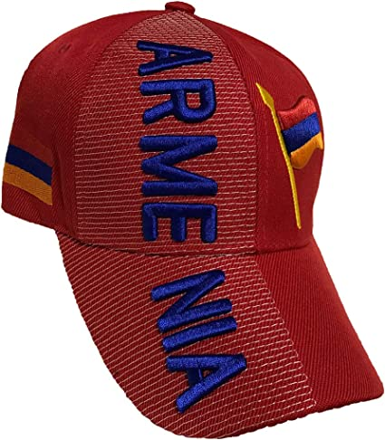 Countries of Europe Baseball Caps Hats with Five 3D Embroideries