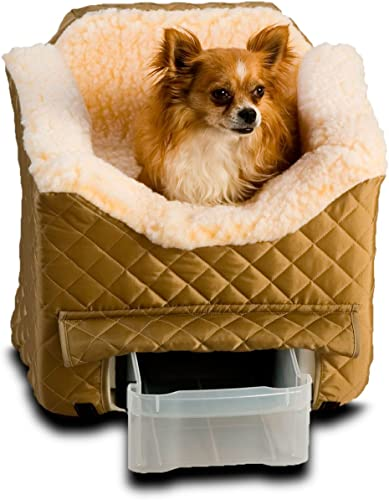 Snoozer Lookout II Pet Car Seat, Medium II, Khaki