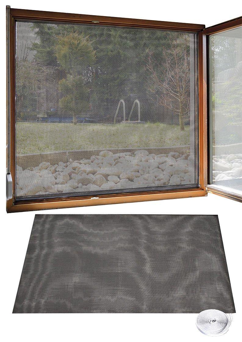 Infactory PE NC-8871Moustiquaire: Moustiquaire pour fenêtre, 130x 150cm + ruban adhésif de 6m (Grille anti-insectes)